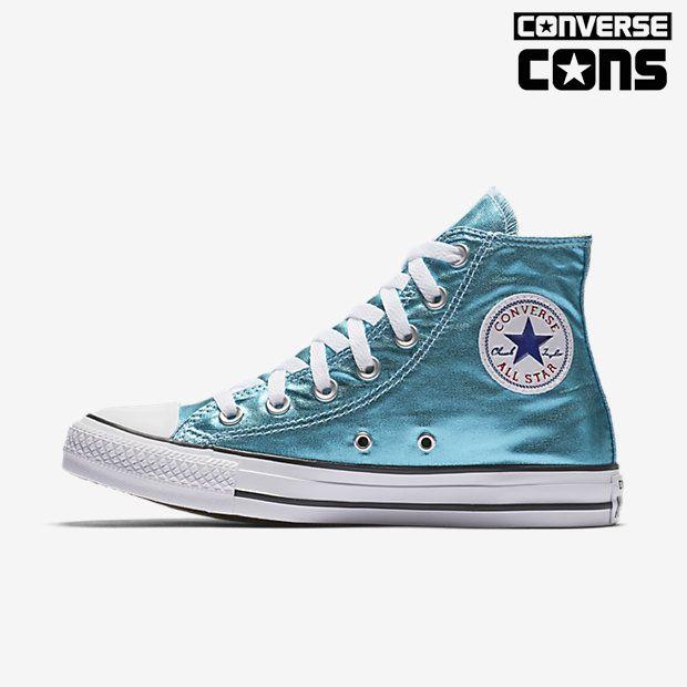 Womens Converse Chuck Taylor All Star Metallic High Top Unisex Shoe 155555F453 Online