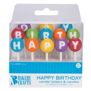 happy birthday cake candle holder picks and candles oasis supply on birthday cake toppers online india