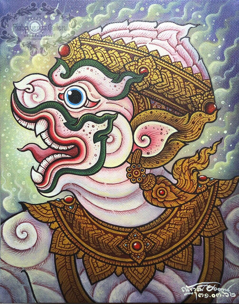 Plabpluengsgallery Artwork Artlover Artgallery Kunsthandwerk Thaiart Hanuman Hinduism Art Acrylmalerei Acrylpainting Pa ศ ลปะเคลต ก ภาพวาด ภาพศ ลป