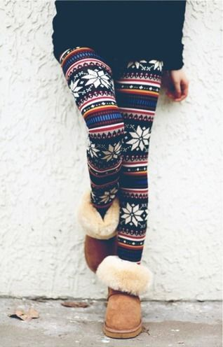 Sweaters To Wear With Leggings For The Ultimate Winter Look Patterned Leggings Printed Leggings Winter Sweaters And Leggings