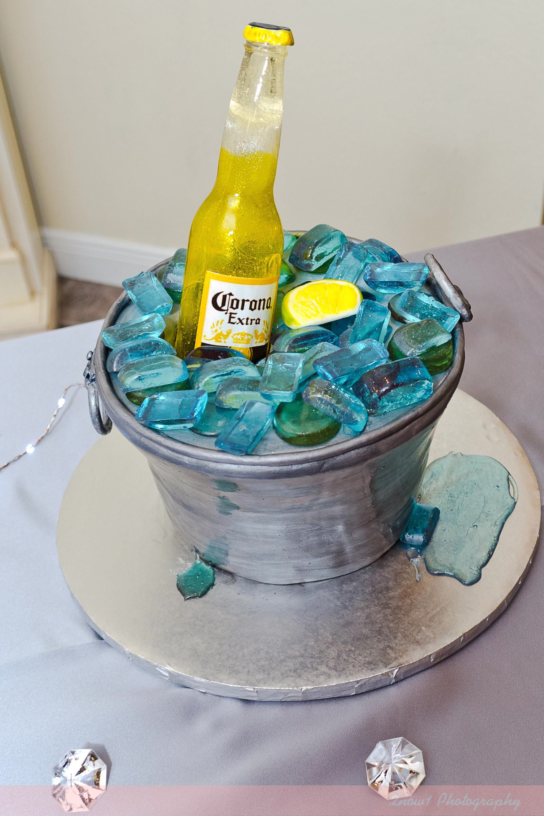 Pin Corona Beer Beach Themed Birthday Cake Just Baked Cakes And