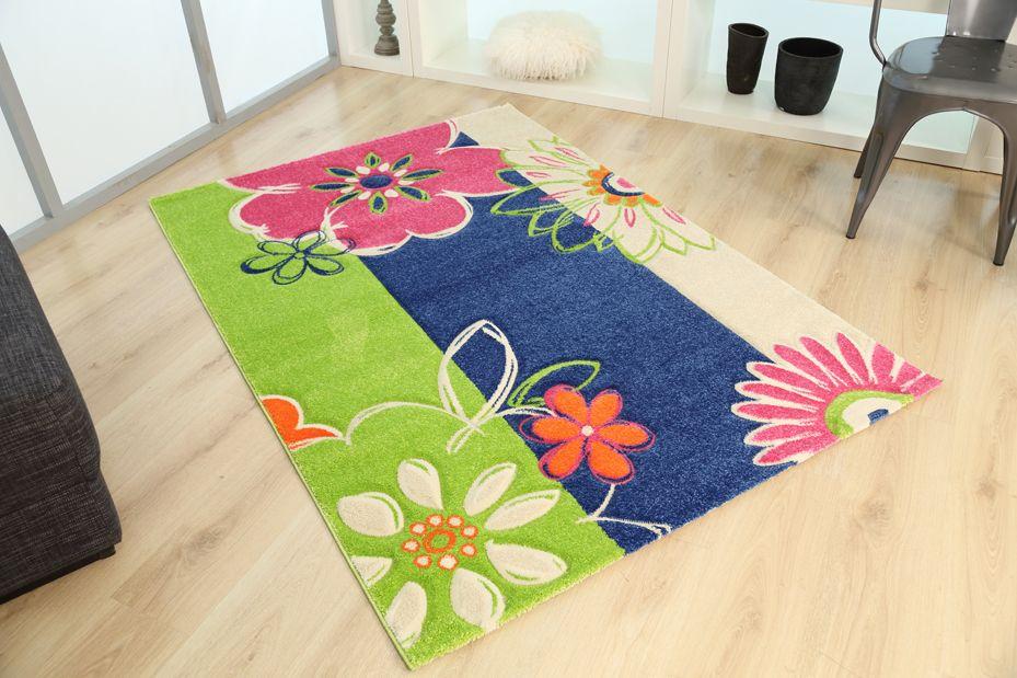 Παιδικά χαλιά Royal Kids - Royal Carpet. Μπλε - λαχανί - ροζ