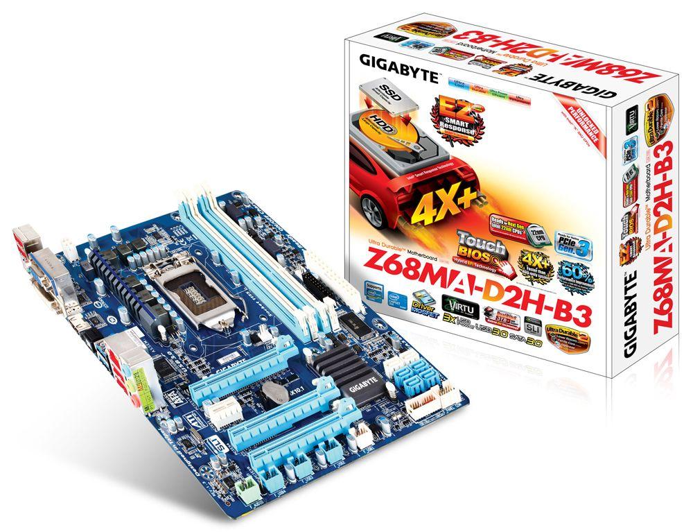 GIGABYTE - Motherboard - Socket 1155 - GA-Z68MA-D2H-B3 (rev