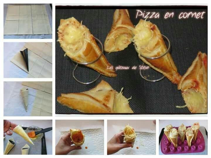 Pizza en cornet