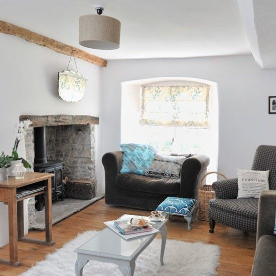 Original living room features at hq for Modern cottage living room ideas