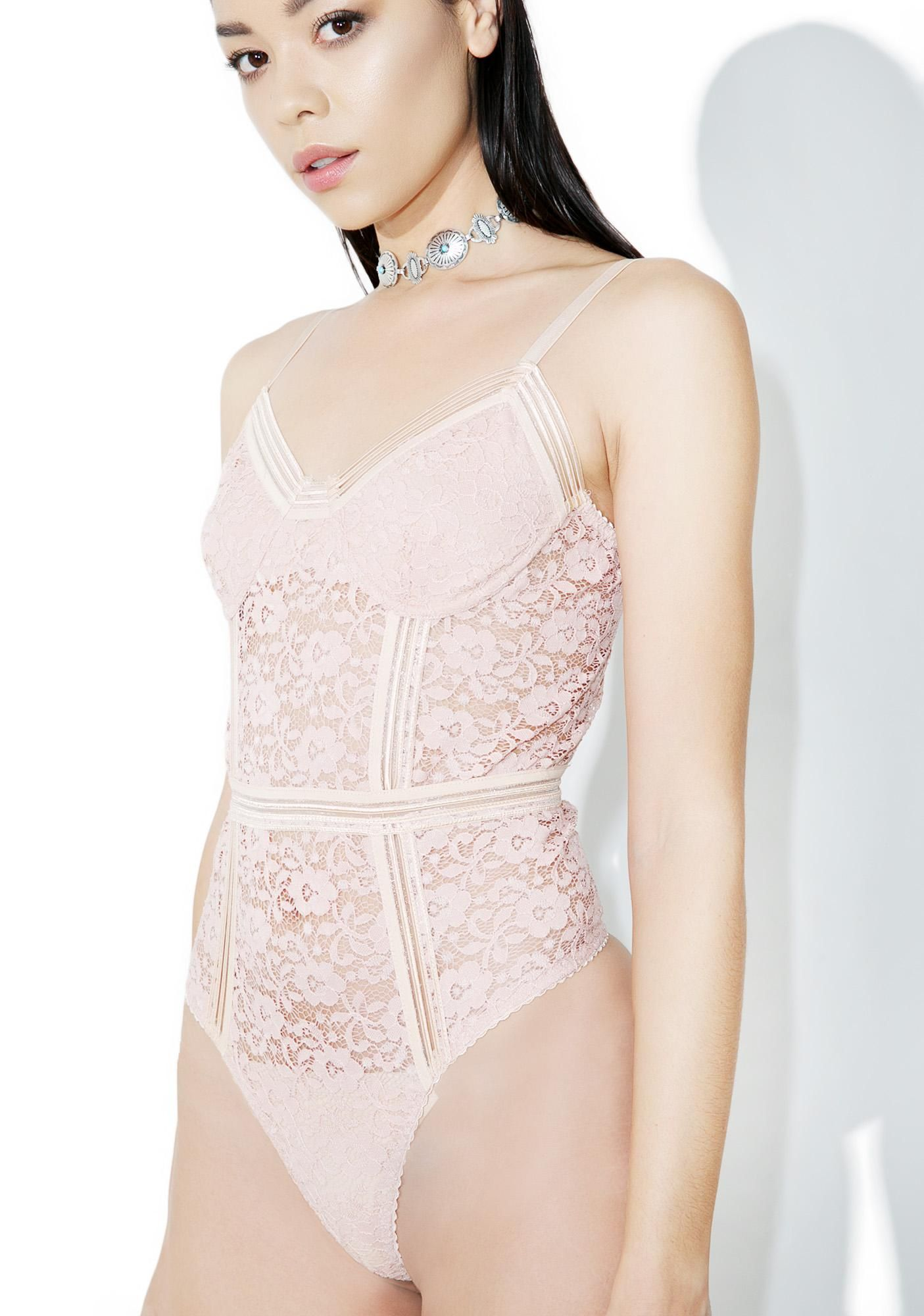 53ac991b43 Halation Lace Bodysuit is gunna treat ya sweet  N gentle