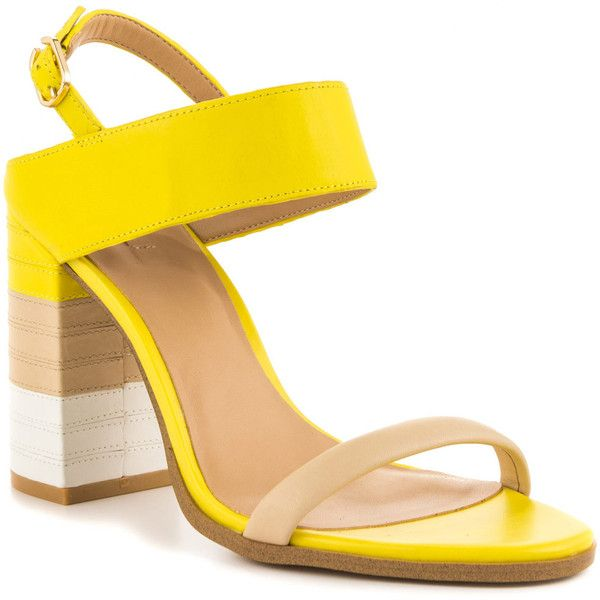Yellow leather sandals, Yellow sandals