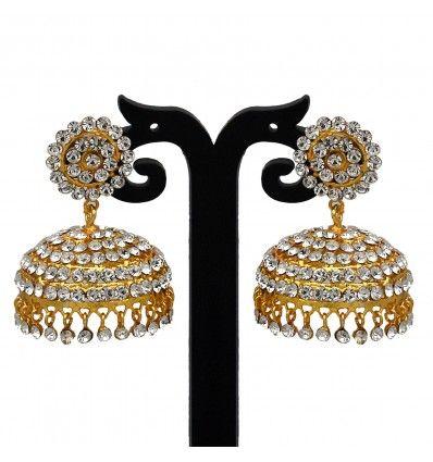Buy Imitation White Stone Jimikki/Jumkha Online|Kollam Supreme