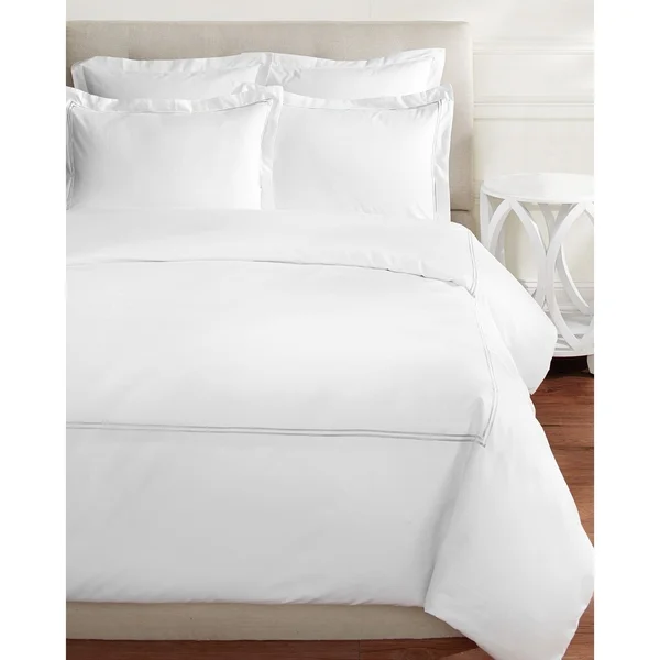Shop Home Sweet Home Collection 600 Thread Count Cotton 2 Stripe Embroidery Duvet Set On Sale Free Ship Duvet Cover Sets Duvet Sets 100 Cotton Duvet Covers