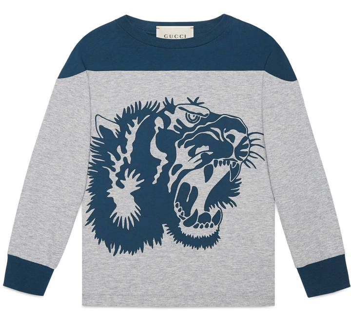 f317f045f61 Children's cotton T-shirt with tiger print #jersey#cotton#print ...