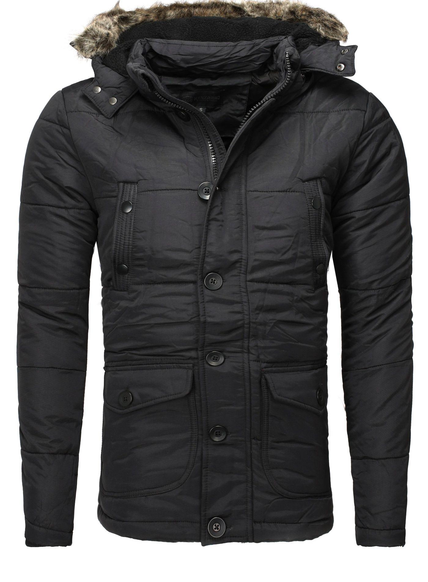 Jacke von der Marke Kenzarro Farbe: Schwarz Verschluss