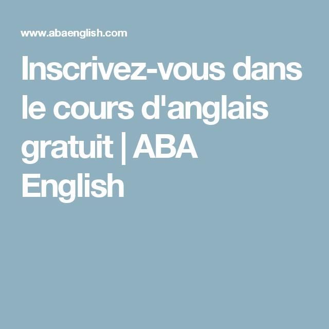 Inscrivez-vous dans le cours d'anglais gratuit | ABA English