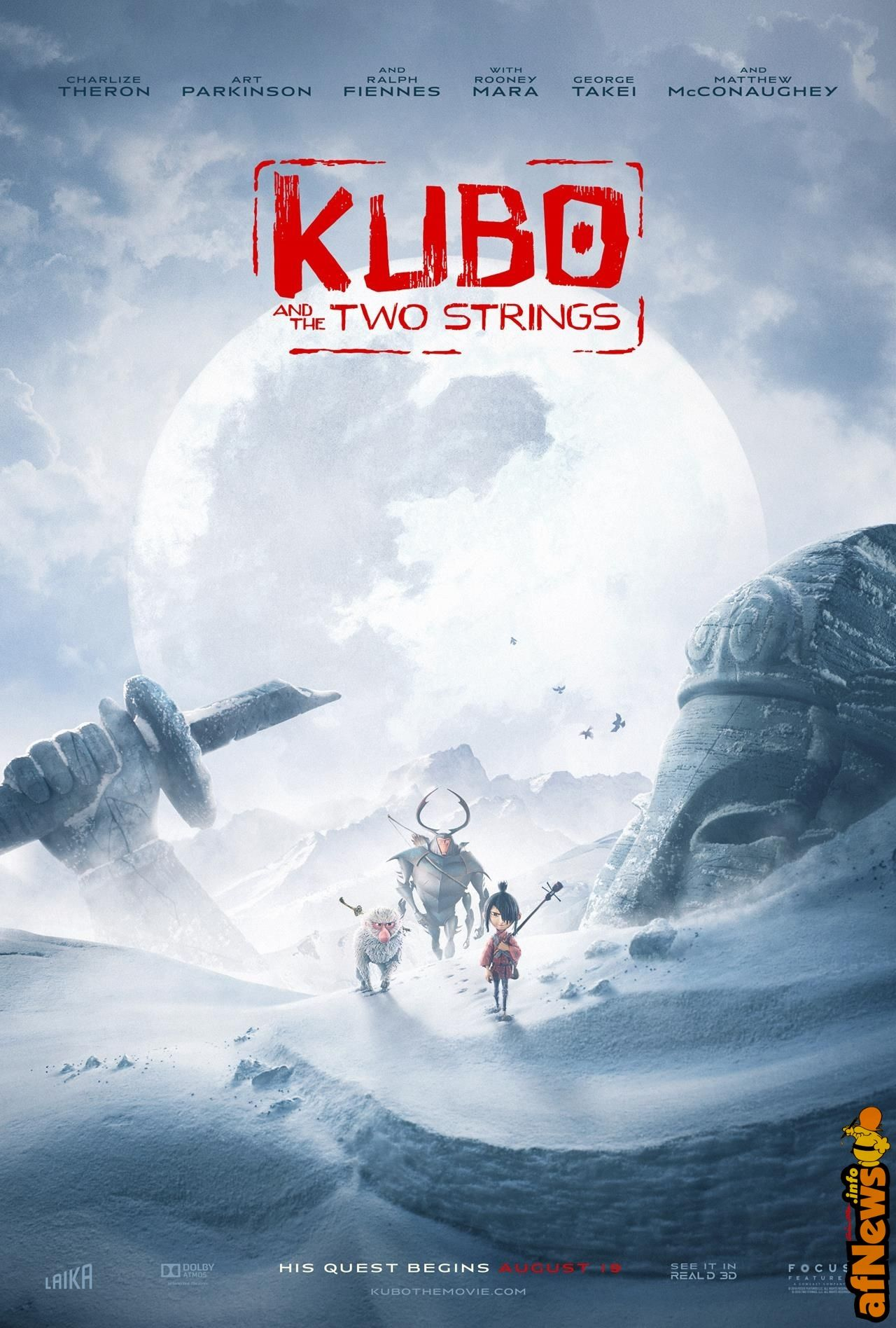 """Kubo and the two strings"": nuovo trailer e artworks spettacolari - http://www.afnews.info/wordpress/2016/04/29/kubo-and-the-two-strings-nuovo-trailer-e-artworks-spettacolari/"