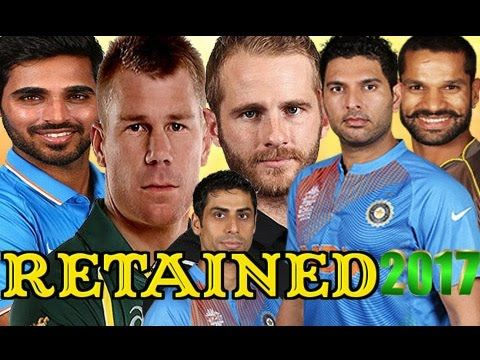 IPL 2017 Team Player ○ Sunrisers Hyderabad(SRH) Retained Player Last Fro.