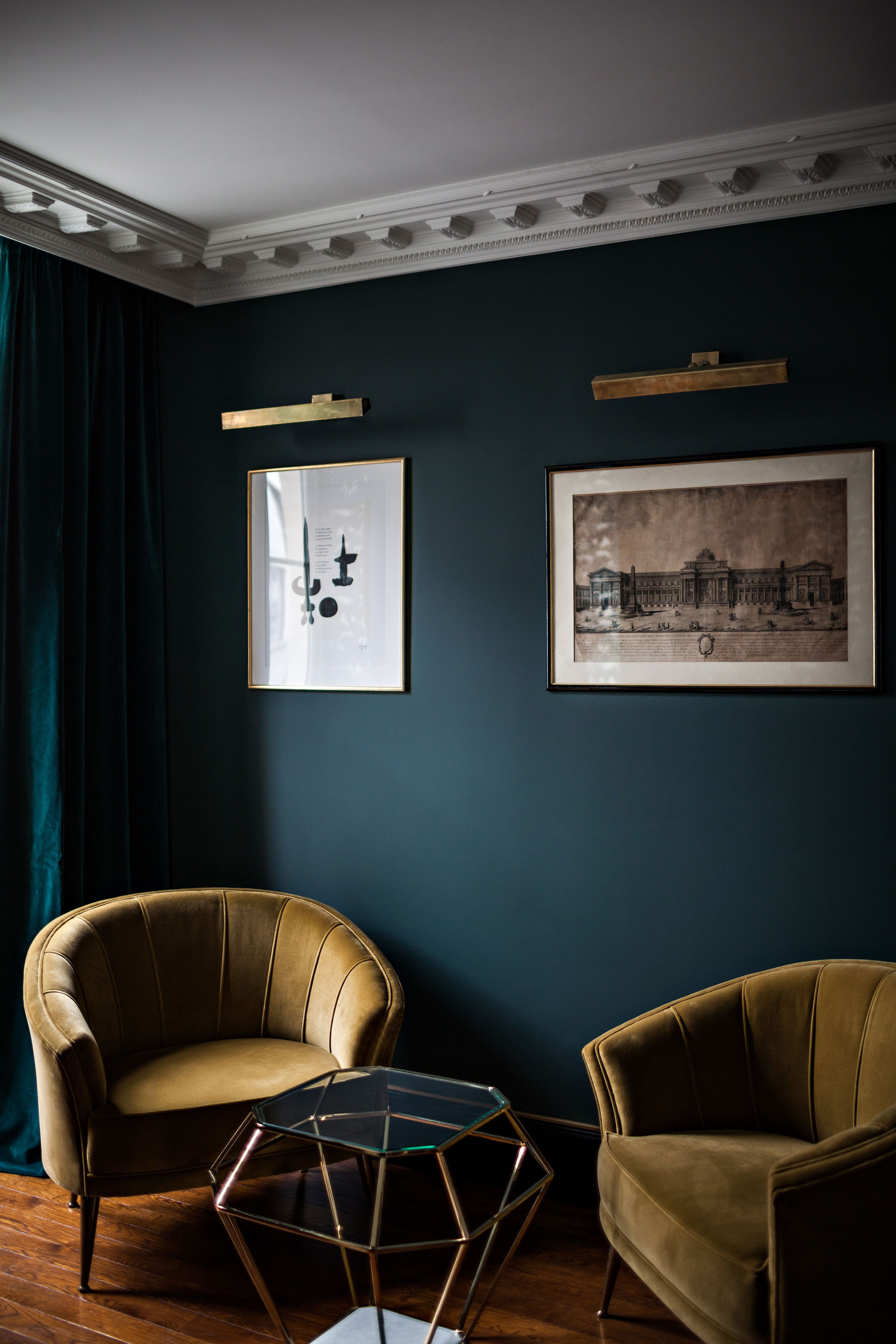 Dunkel Kontrast Im Wohnzimmer