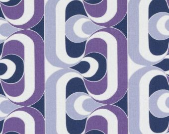 Modern Navy Blue And Purple Geometric Upholstery Fabric