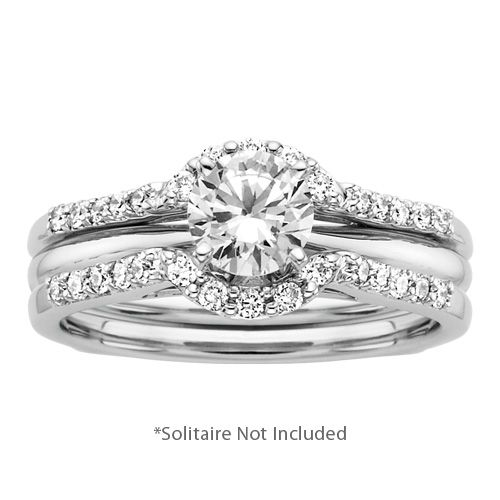 13 ct tw Diamond Solitaire Ring Wrap Fred meyer Ring wraps and