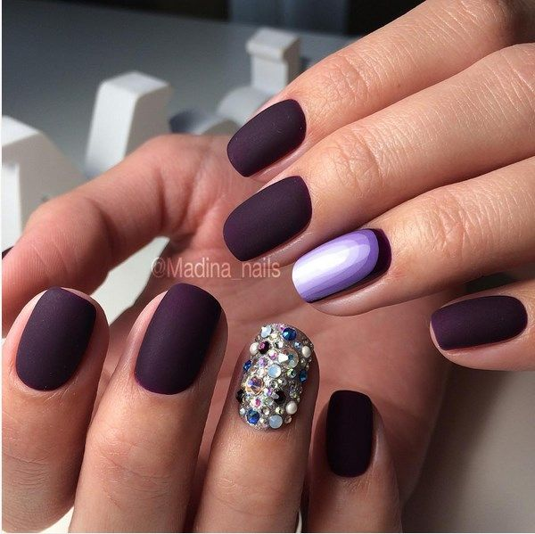 Nail your way to the perfect ruffian manicure manicure matte purple one accent ruffian nail design prinsesfo Images