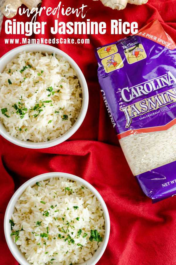 #ad Quick and easy 5 ingredient Instant Pot Ginger Jasmine Rice. Just a few simple ingredients create a flavorful and tasty side dish. #AD Quick and easy 5 ingredient Instant Pot Ginger Jasmine Rice using @carolinariceusa. Just a few simple ingredients create a flavorful and tasty side dish. Directions for Instant Pot and stovetop are included. #CarolinaRice #CarolinaRiceUnites #recipes #instantpotrice #jasminerice #easysidedish #5ingredient