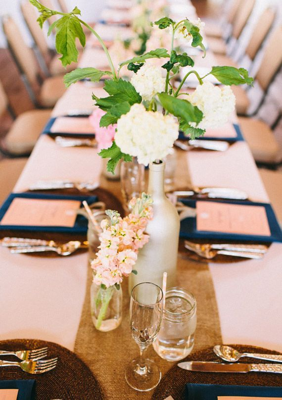 Navy And Pink Reception Decor Photo Ciara Richardson 100 Layer Cake