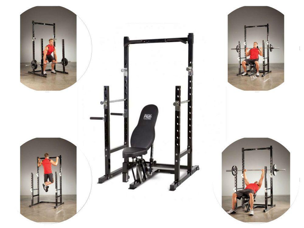 Fitness equipment for home power rack bench pull up bar