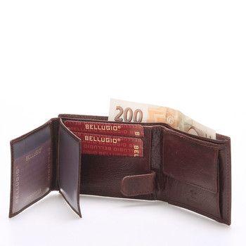 909a6b06bdb  Bellugio Kožená malá pánská hnědá peněženka BELLUGIO . Peněženka je  praktická