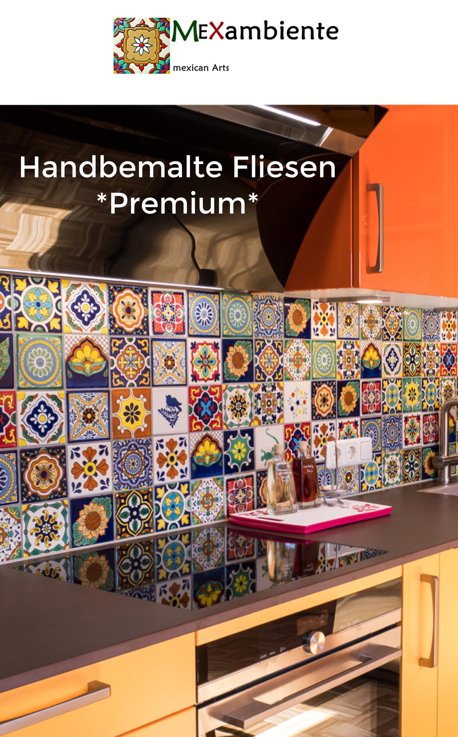 Wunderschöne Fliesen für die Küche mit bunten Designs aus Mexiko ...