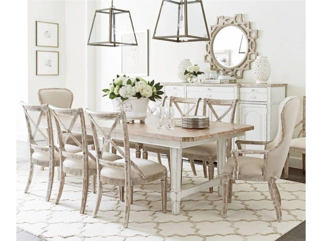 Juniper dell 9 piece dining table set by stanley furniture at becker furniture world
