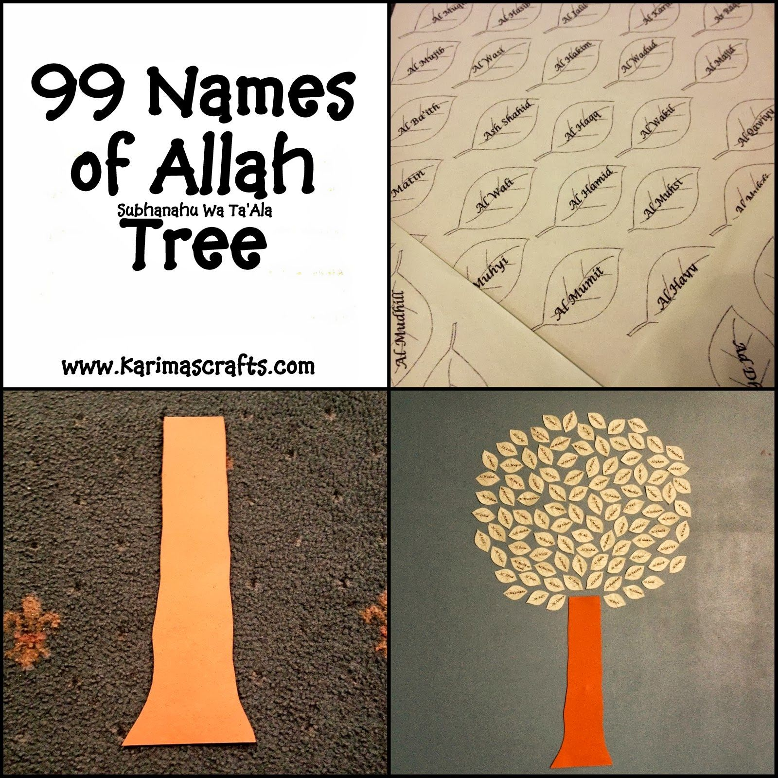 99 Names Of Allah Tree Ramadan Crafts I May Not Celebrate