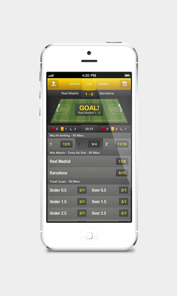 Sports Betting iPhone Application by Pontus Persson, via