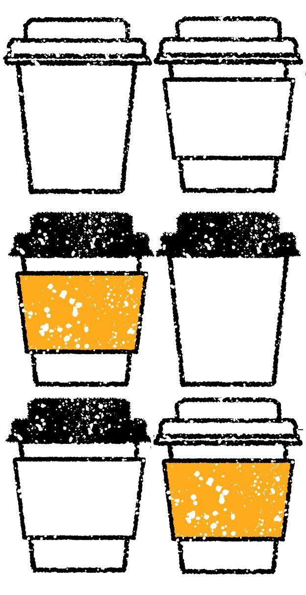カフェのコーヒーテイクアウトカップイラスト 無料素材です 瓶