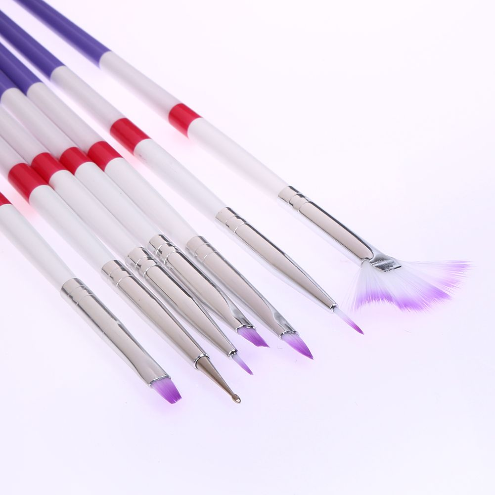 7Pcs/Lot Professional Nail Art Painting Liner Pens Brushes Manicure ...