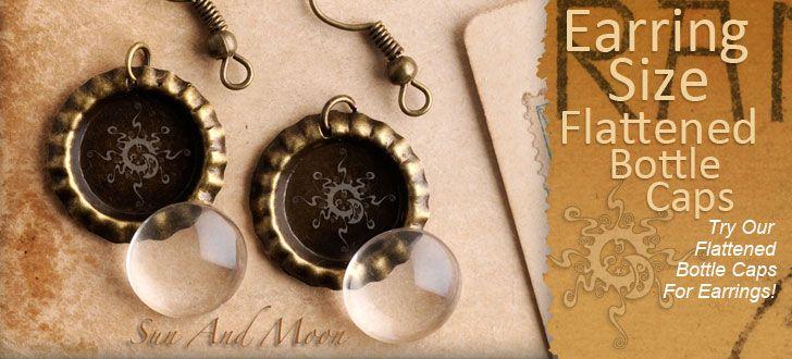 Great Source For Supplies And Ideas Bottle Cap Earrings Earring Kit Jewelry Making Pendants