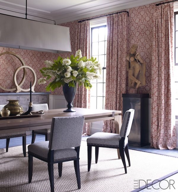 28 Simple Dining Room Ideas For A Stunning Inspiration: Beautiful Textiles & Wallpapers