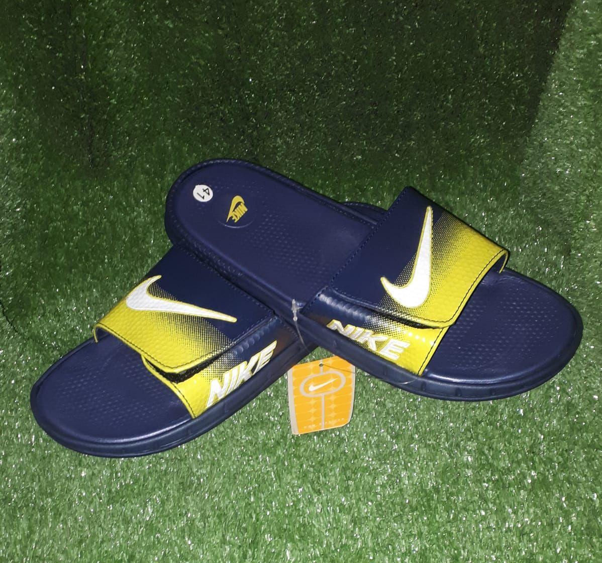 Buy Nike Black And Yellow Slipper
