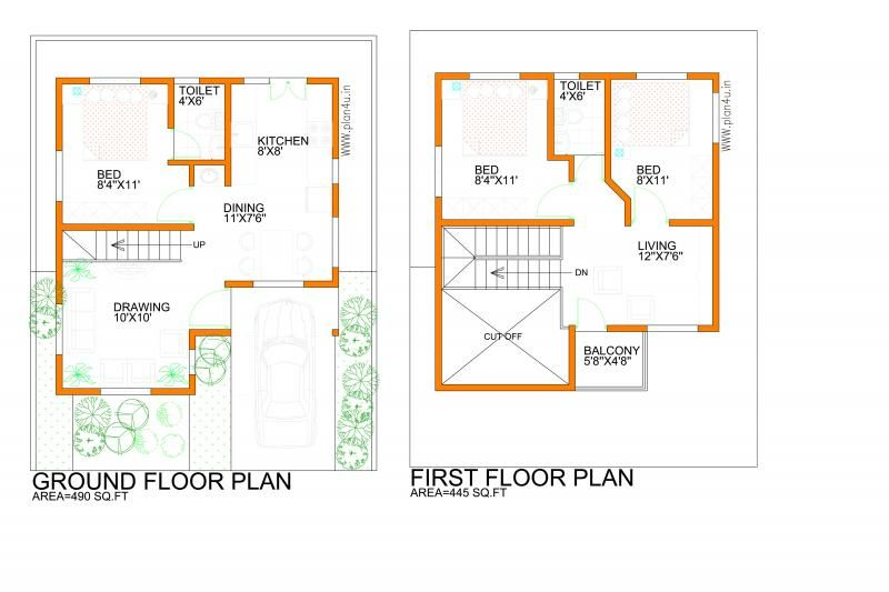 Small Plot Plan Small House Plans Duplex House Plans House Plans