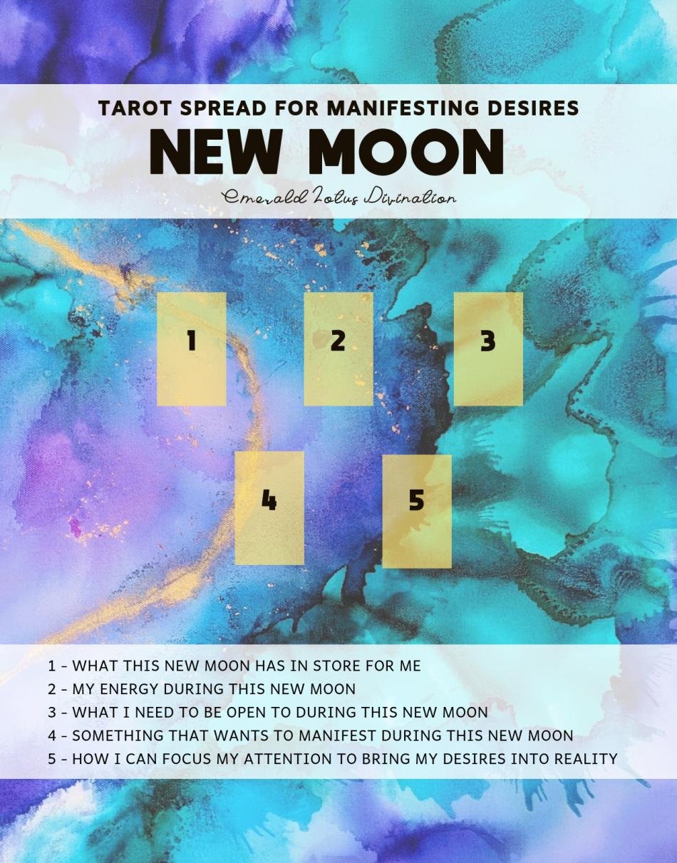 New Moon Tarot Spread for Manifesting Desires