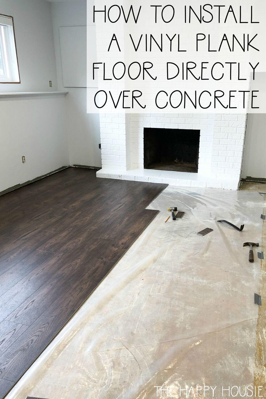Vinyl Plank Flooring Basement, Can You Put Laminate Flooring On Top Of Concrete