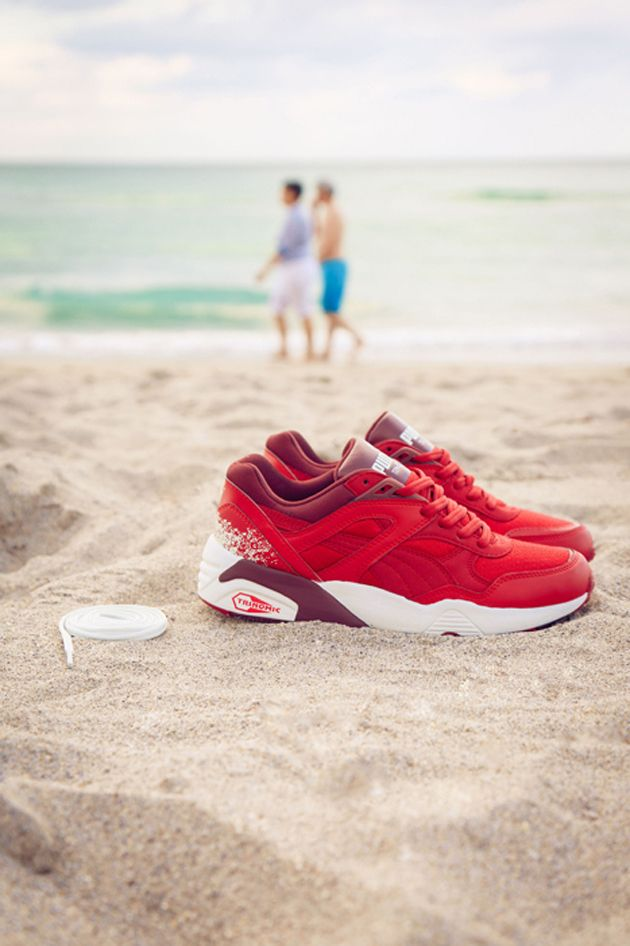 Puma Trinomic R698 Wn S Red Trendy Womens Sneakers Sneakers Running Shoes Sneakers