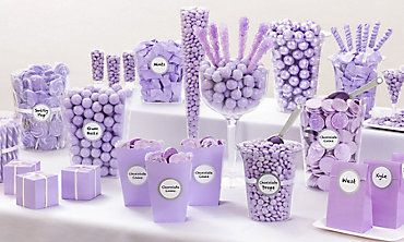 Lavender Candy Buffet Lavender Baby Showers Wedding Candy Baby Shower Candy