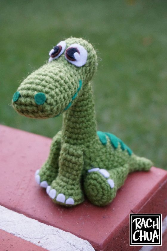 FREE PATTERN: Arlo from \'The Good Dinosaur\' | Sweetest Plush and ...