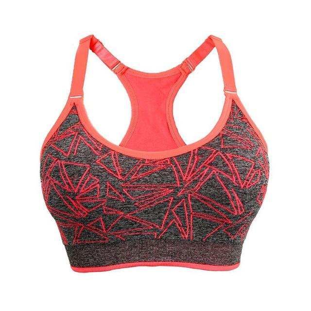 0c3e86bd7ce8b Women Fitness Yoga Sports Bra Lady BreathableRunning Gym Adjustable  Spaghetti Straps Padded Top Seamless Top Athletic Vest