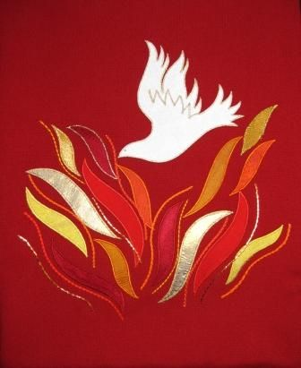 The Blessing of Pentecost | Church banners designs, Pentecost ...