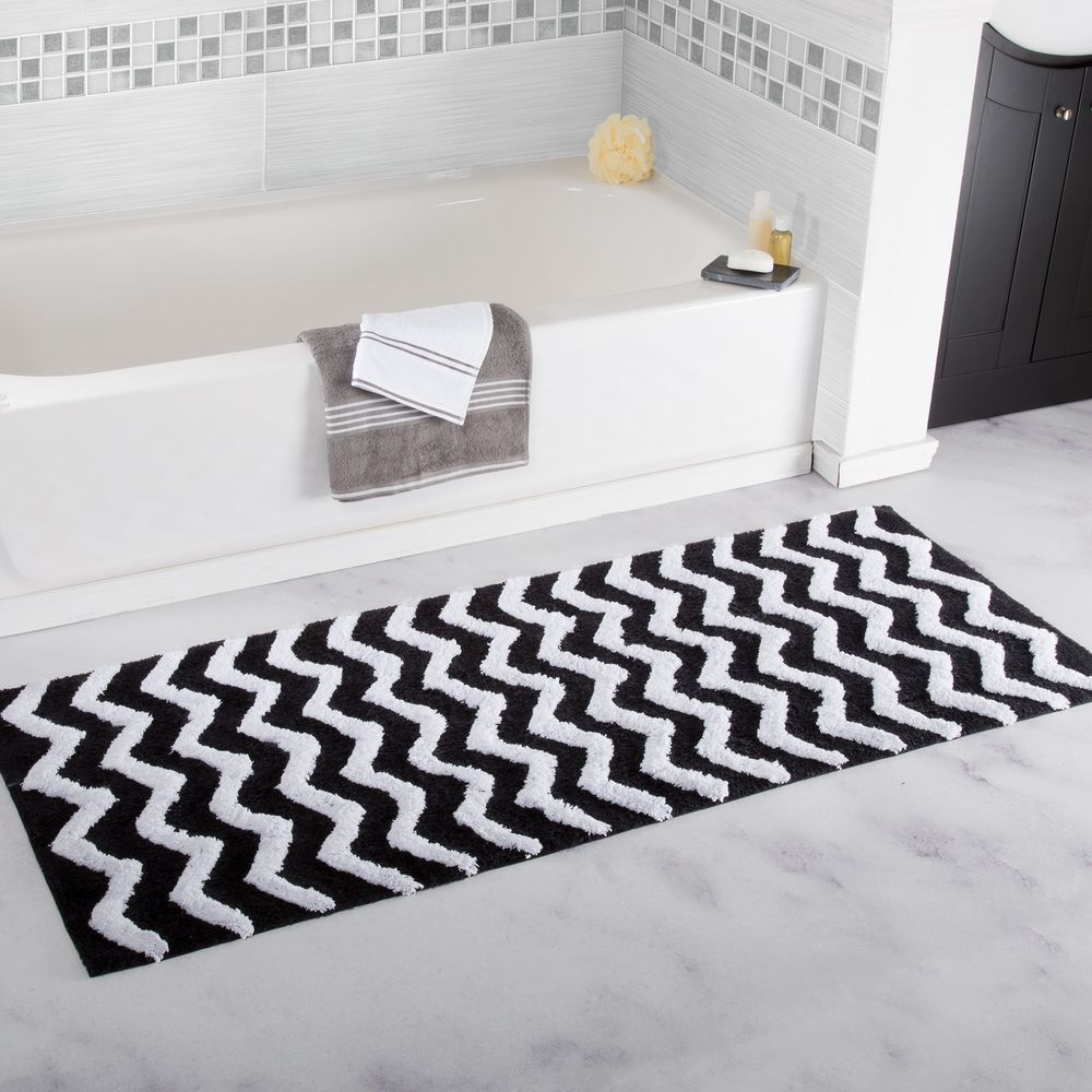 gallery and white bath images monochrome mat of htm mats floral rugs diamond rug black