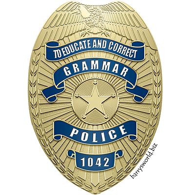 Grammar Police Barry S World Grammar Police Grammar Police