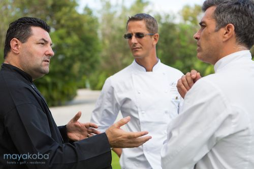 Caption this! What do you think the head chefs of Banyan Tree Mayakoba, Fairmont Mayakoba, and Rosewood Mayakoba are discussing?