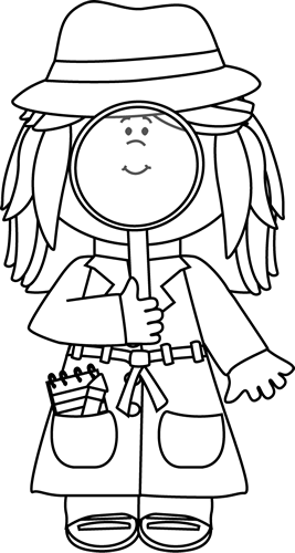Girl Detective With Magnifying Glass Detective Themed Classroom Detective Theme Detective