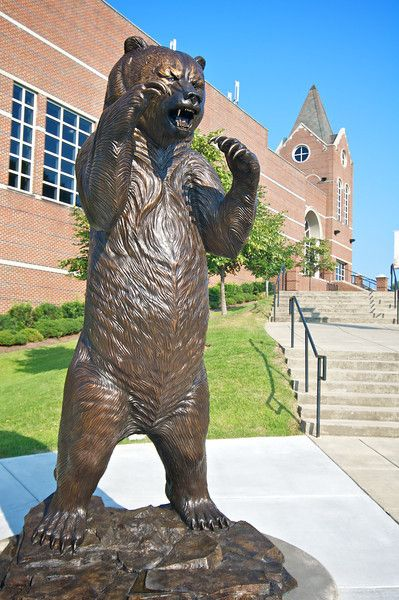 Stop for a photo op with the Bear Statue in from of the