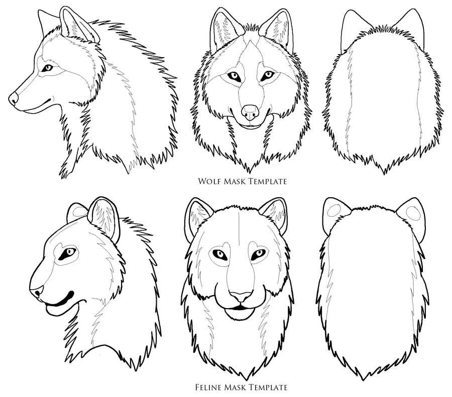 wolf mask template wolves pinterest wolf mask mask template