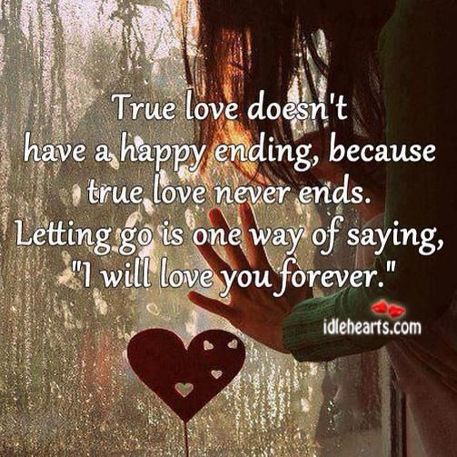 A True Love Story Never Ends Quote: True Love Never Ends